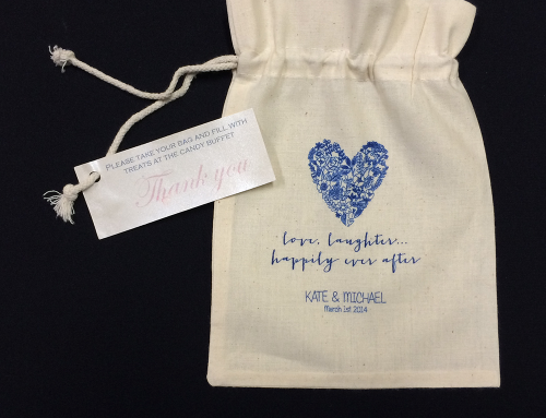 Wedding Calico Lolly Bags
