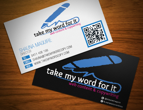 Take my word for it – Business Cards