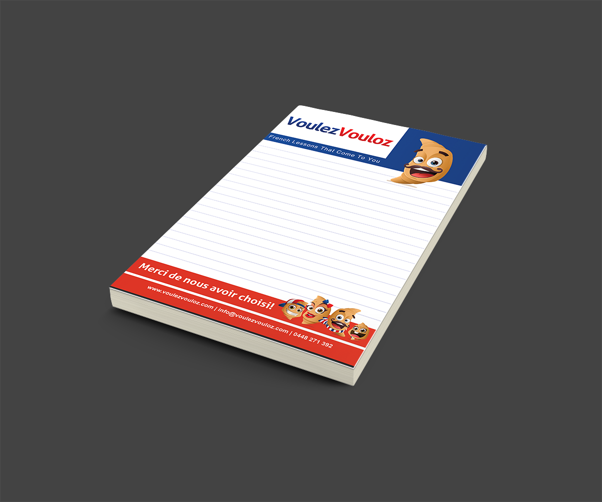 VouleVouloz Notepad Design