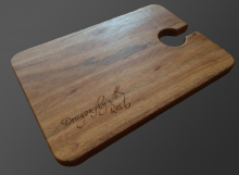 Cheese Board with wine glass holder