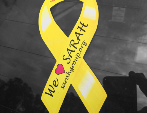 SARAH Group awareness sticker